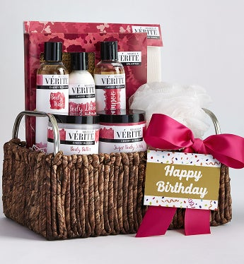 She's Fabulous! Happy Birthday Spa Basket-She's Fabulous! Happy Birthday Spa Basket