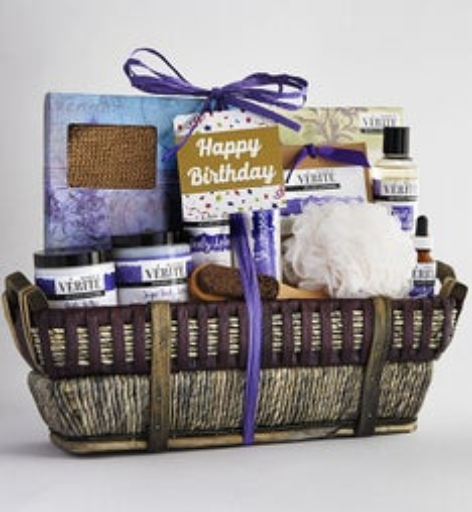Its Your Birthday Denarii Lavender Spa Basket