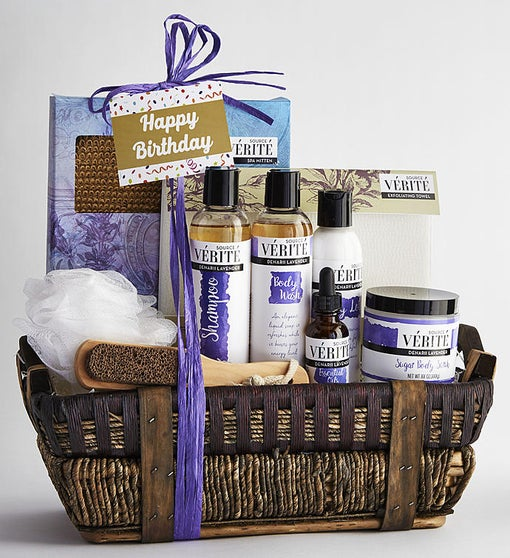 It's Your Birthday! Denarii Lavender Spa Basket