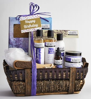 It's Your Birthday! Relax In Luxury Spa Basket-It's Your Birthday! Deluxe Luxury Spa Basket