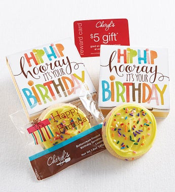 Cheryl's Hip Hip Hooray Buttercream Cookie Card - Cheryl's Hip Hip Hooray Buttercream Cookie Card
