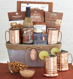 Moscow Mule Cheers Gift Basket