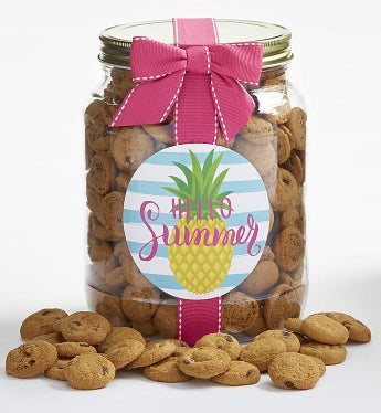 Hello Summer! Chocolate Chip Cookie Jar - Hello Summer! Chocolate Chip Cookie Jar - Large