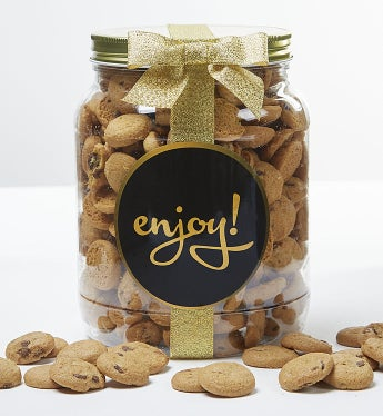 Enjoy! Chocolate Chip Cookie Jar-Enjoy! Chocolate Chip Cookie Jar - Large