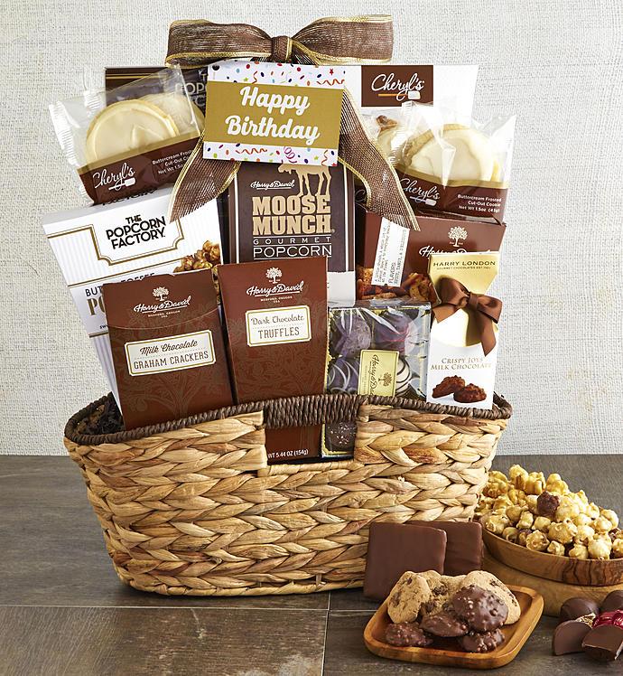 Premier Birthday Favorites Sweets Gift Basket - Premier Birthday Favorites Gift Basket - Grande