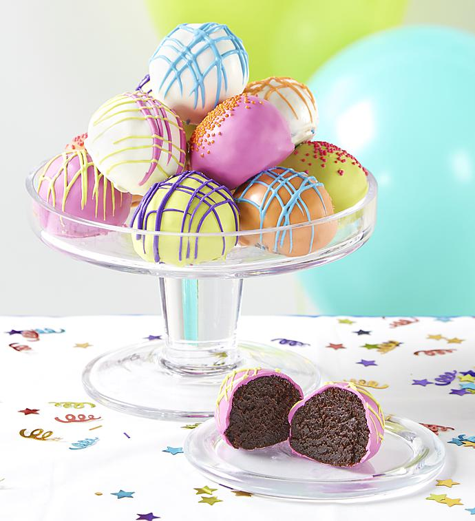 Stupendous Happy Birthday Cake Truffles 1800Baskets Com Personalised Birthday Cards Veneteletsinfo