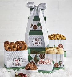 Deck The Halls Chocolates & Sweets Tower