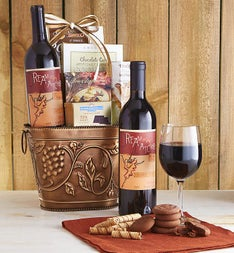 Grapevine Red Wine & Cheese Gift Basket