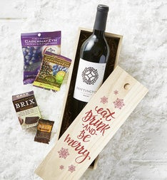 Eat, Drink & Be Merry Wine & Chocolate Crate