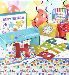 Birthday in a Box  Party Room Decorating Set