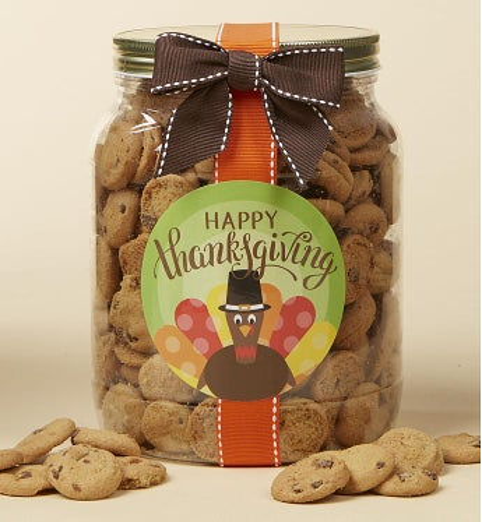 Happy Thanksgiving! Chocolate Chip Cookie Jar Jar-L by 1-800-Baskets