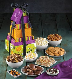 The Popcorn Factory 7 Tier Halloween Tower