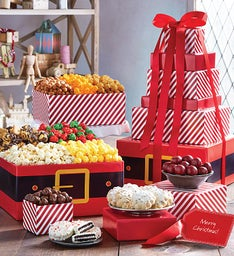 The Popcorn Factory Santa's Belt 6 Tier Tower