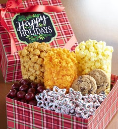 The Popcorn Factory Happy Holidays Snack Box