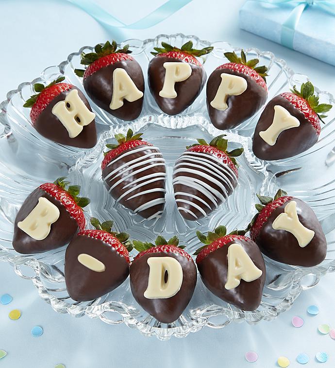 Happy Birthday Chocolate Covered Strawberries