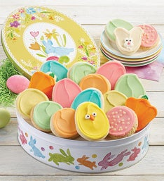 Cheryl's Easter Egg Gift Tin with Frosted Cut-Outs