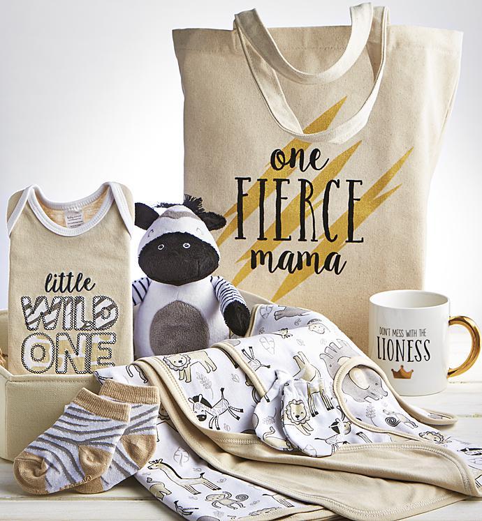 Sweet Safari  pc Mom  Baby Gift Basket