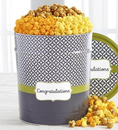 Popcorn Factory Simply Stated Congrats  Way Tin