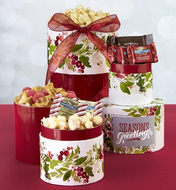 Season's Best Holly Berry Sweets Gift Tower