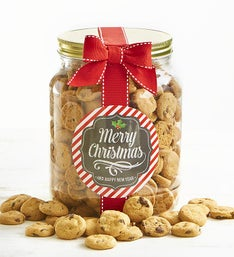 merry christmas chocolate chip cookie jar - Christmas Food Catalogs
