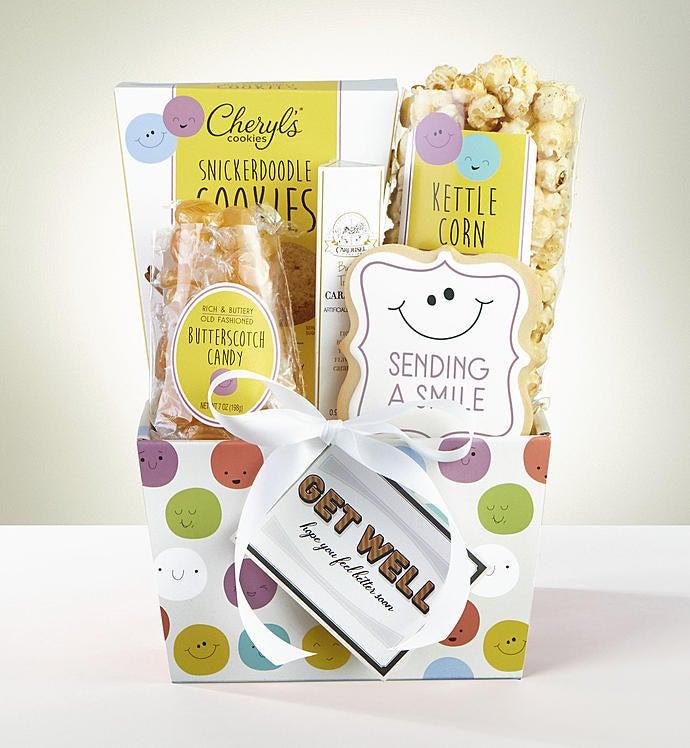 Sending Get Well Smiles Sweet Treats Gift Basket