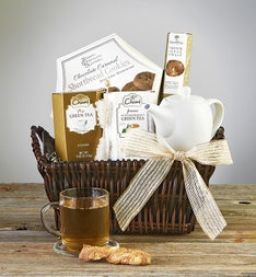 Time To Relax Tea  Teapot Gift Basket