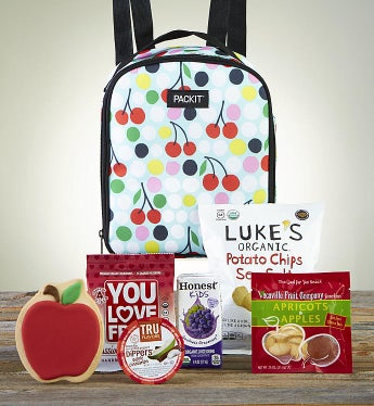 After School Snack Time With Cherry Dot Backpack - Mom Approved Snacks by 1-800-Baskets