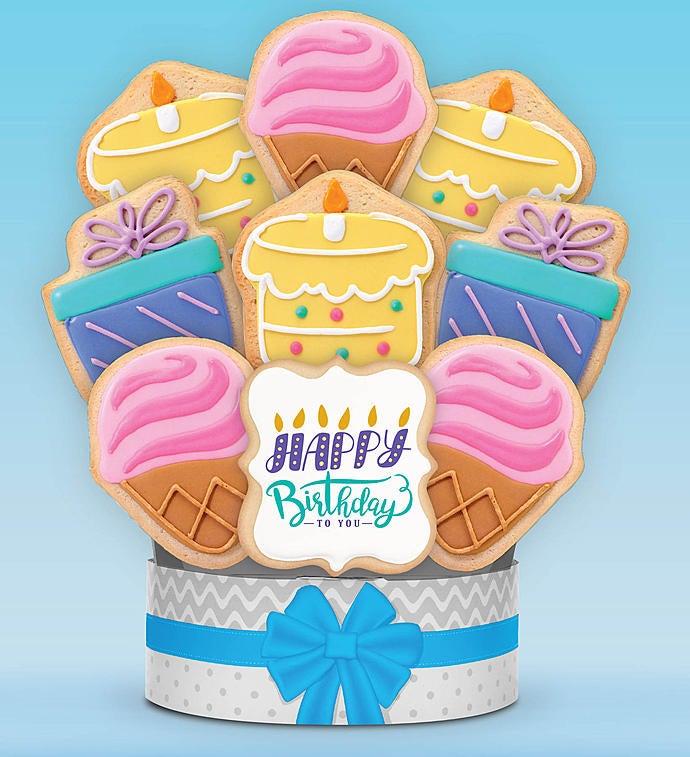 Birthday Celebration Cookie Arrangement