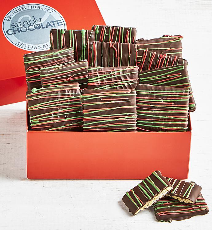Simply Chocolate Holiday Chocolate Grahams