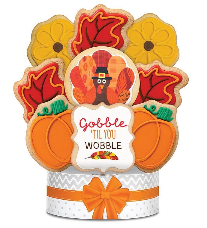 Gobble 'til You Wobble Cookie Arrangement 9 Pc by 1-800-Baskets