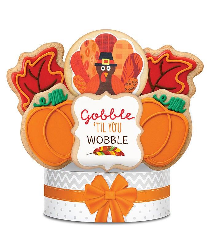 Gobble 'til You Wobble Cookie Arrangement 6 Pc by 1-800-Baskets