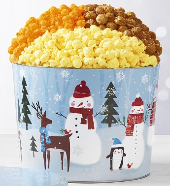 The Popcorn Factory Snow Day 3 Way Tin 2G