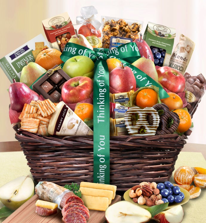 Thinking Of You Fruit & Sweets Gift Basket