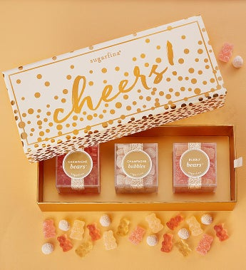 Sugarfina Cheers! Candy Bento Box 3Pc by 1-800-Baskets