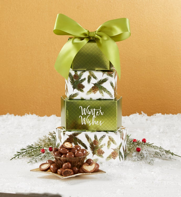 Winter Wishes Gift Tower