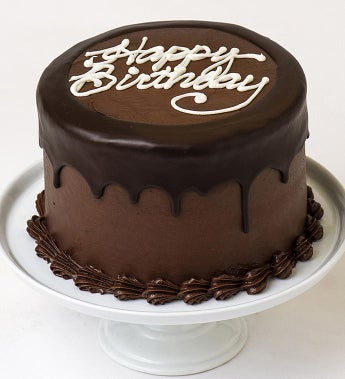 happy birthday chocolate Happy Birthday Chocolate Cream Cheese Frosted Cake | 1800Baskets.com happy birthday chocolate