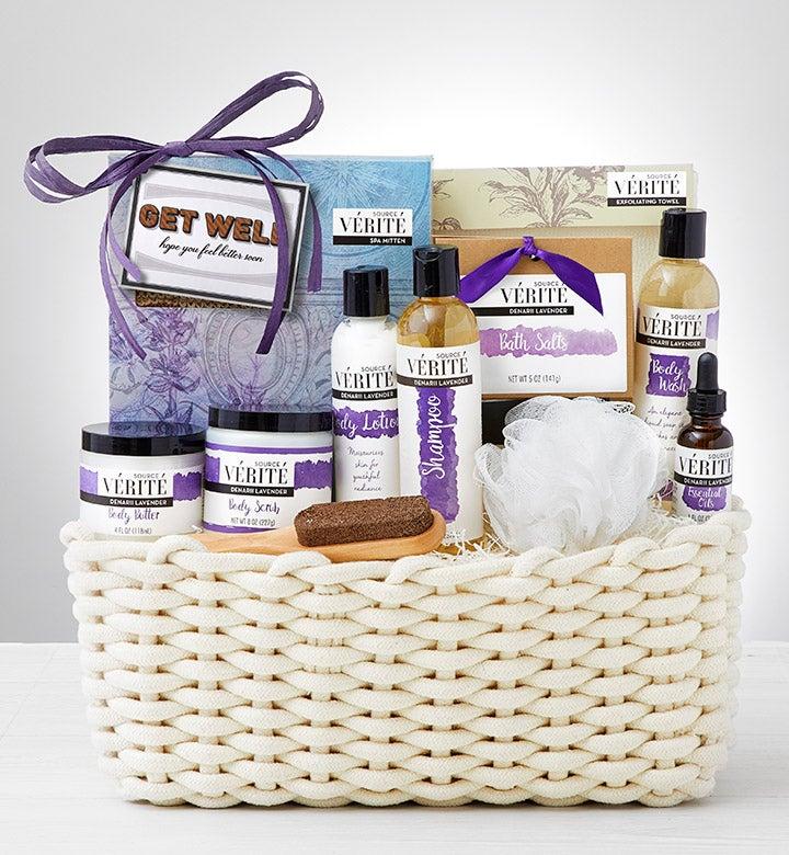Feel Better Soon Denarii Lavender Spa Gift Basket