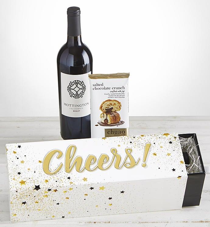 Cheers Merlot Wine  Chocolate Celebration Box