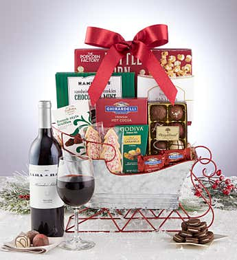 Holiday Sleigh Sweet Delivery with Wine