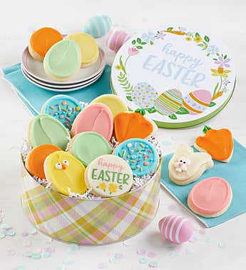 Cheryl's Easter Frosted Cookie Tin
