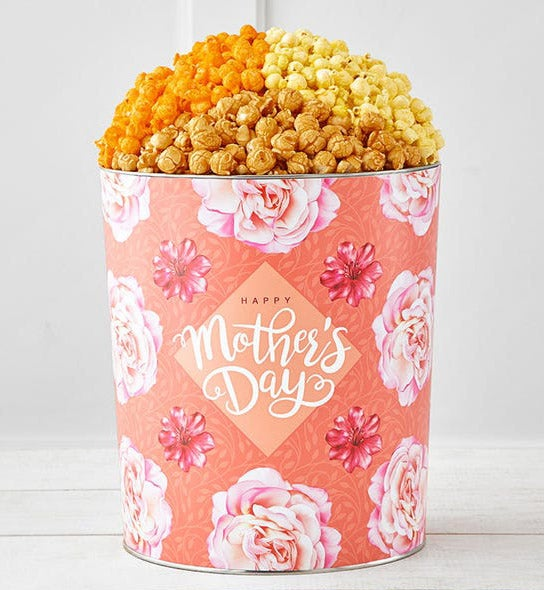 The Popcorn Factory Blooms For Mom 3.5G 3 Flavor Tin