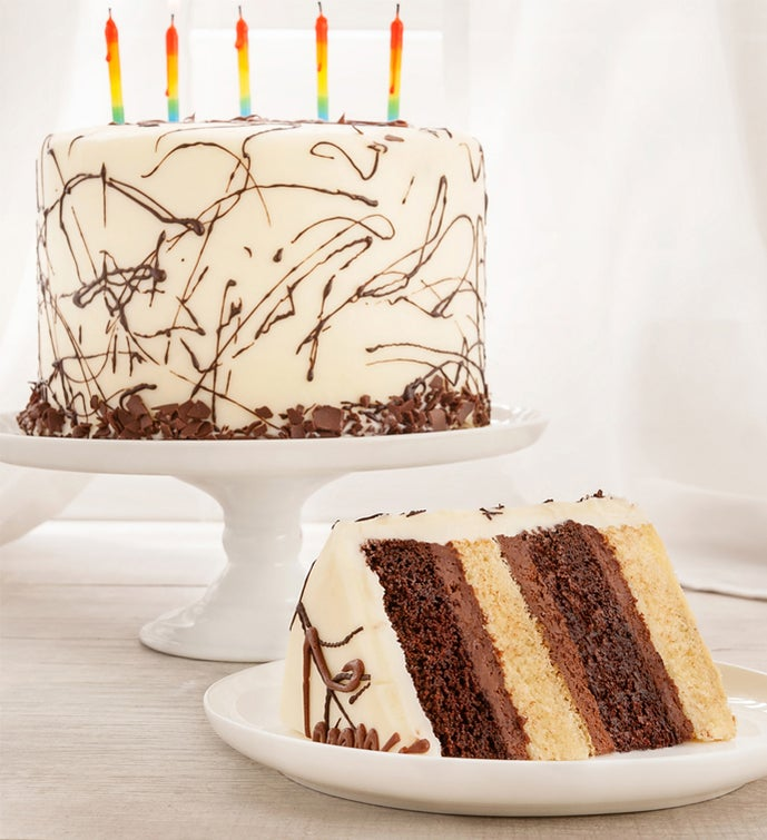 Happy Birthday Combo 4 Layer Cake