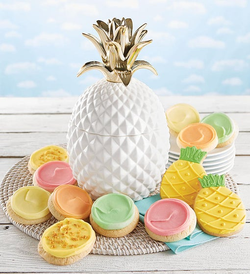 Cheryl's Pineapple Ceramic Cookie Jar