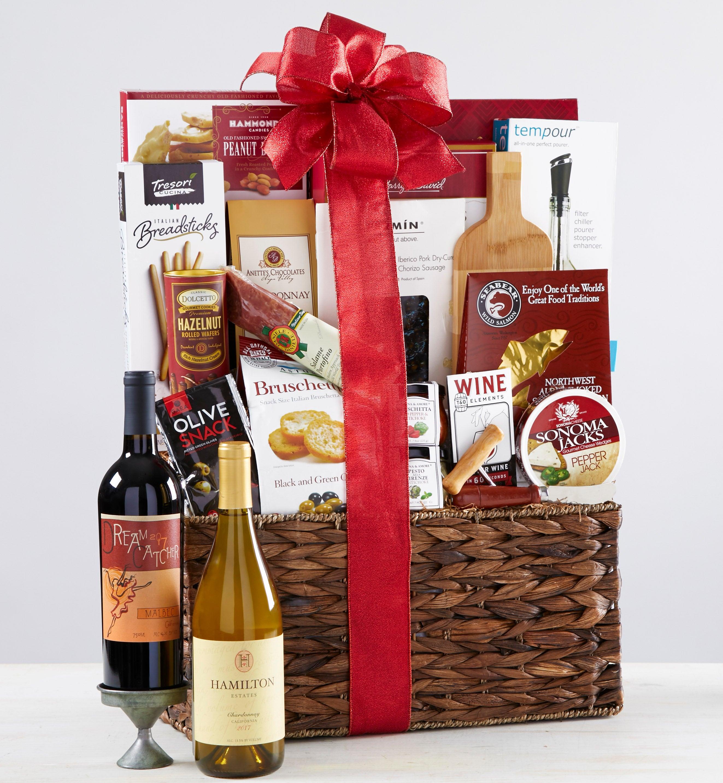 Classy Wine Lovers Gift Basket