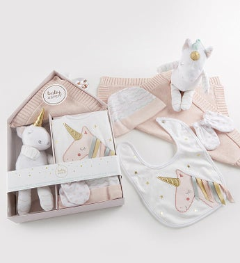 Enchanted Unicorn 5 pc Baby Gift Set