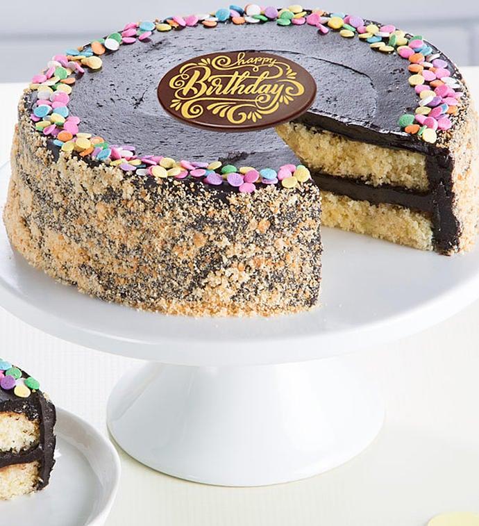 Bake Me a Wish Golden Fudge Happy Birthday Cake