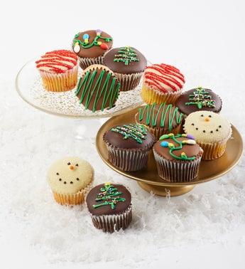 Holiday Belgian Chocolate Dipped Cupcakes 12ct