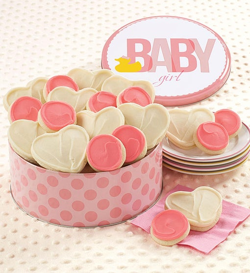 Cheryl's Baby Girl Ducky Cookie Tin