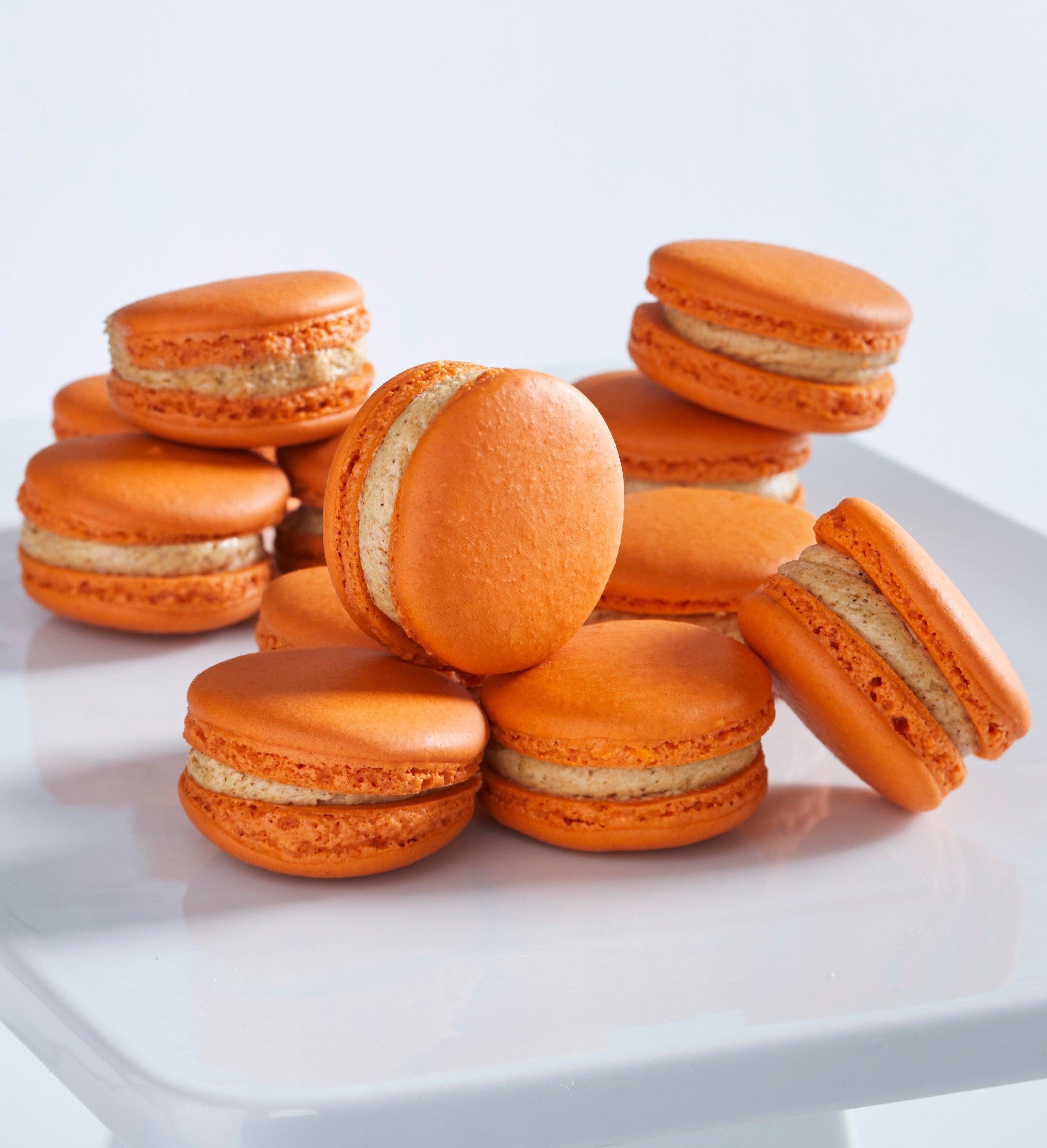 Dana's Bakery Pumpkin Pie Macarons -12 Pc Box - Gift Basket Delivery
