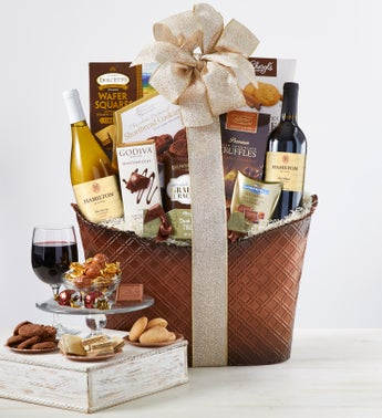 Perfect Pairing Wine  Chocolates Gift Basket